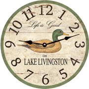 rustic-duck-wall-clock