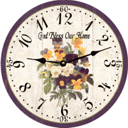 god-bless-pansy-christian-clock