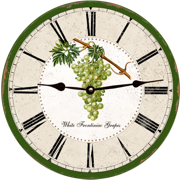 grapes-clock
