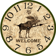 rustic-wall-clocks-moose-wall-clock