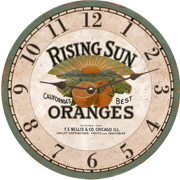orange-wall-clock