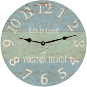 personalized-beach-wall-clock