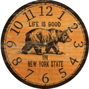 personalized-black-bear-wall-clock
