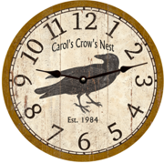 personalized-crow-clock