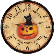 personalized-halloween-clock
