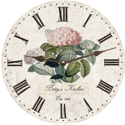 personalized-hydrangea-wall-clock