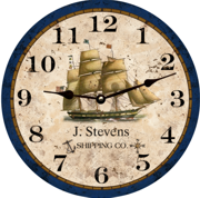 personalized-nautical-clock