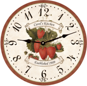 personalized-strawberry-wall-clock