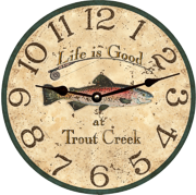 personalized-trout-fish-clock