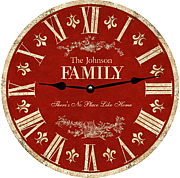 red-family-clock