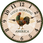 rooster-wall-clock