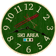 rustic-wall-clocks-ski-clock