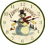 christmas-wall-clocks-snowman-clock