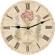 three-flower-wall-clock