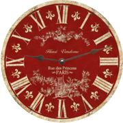 french-country-wall-clock-toile-clock