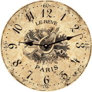 toile-wall-clock