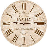 white-family-clock