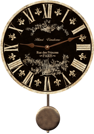 black-french-clock