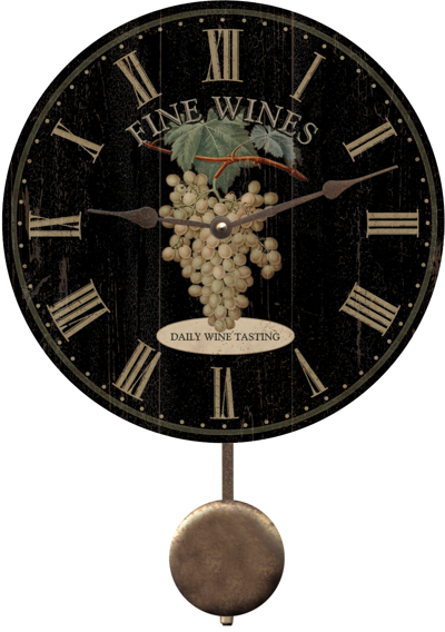 black-wine-clock