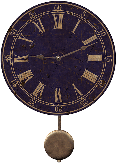 blue-wall-clock