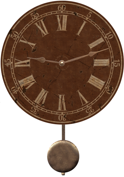 brown-wall-clock