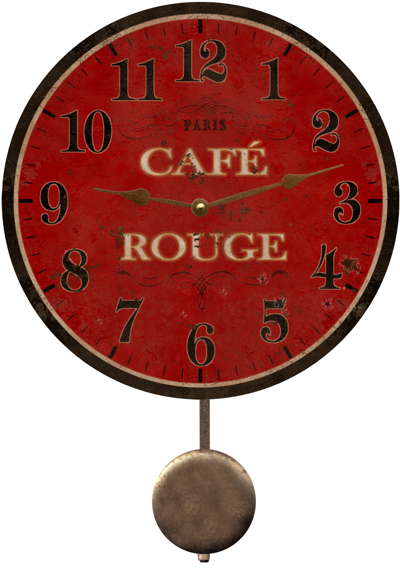 cafe-rouge-french-country-wall-clock