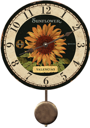 clocks-with-pendulum-sunflower