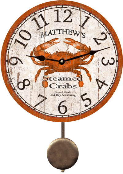 personalized-crab-clock