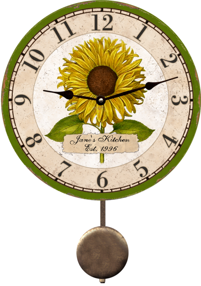 personalized-flower-clock
