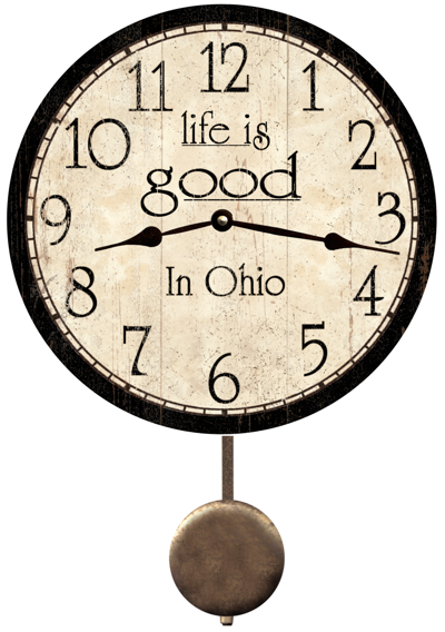 personalized-life-is-good-clock