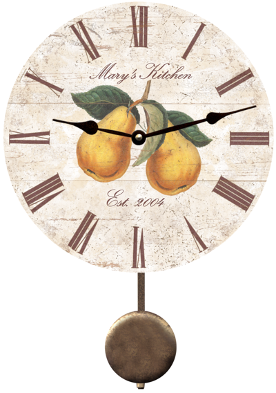 personalized-pear-kitchen-clock