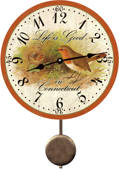 personalized-robin-state-bird-clock