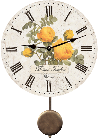 personalized-yellow-rose-wall-clock