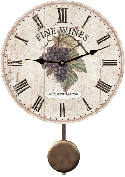 purple-wine-clock