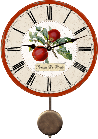 red-apple-wall-clock