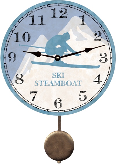 personalized-skier-clock