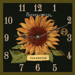 sunflower-clock