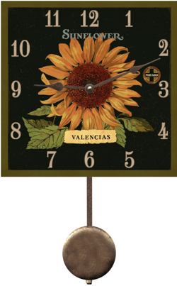 sunflower-pendulum-clock