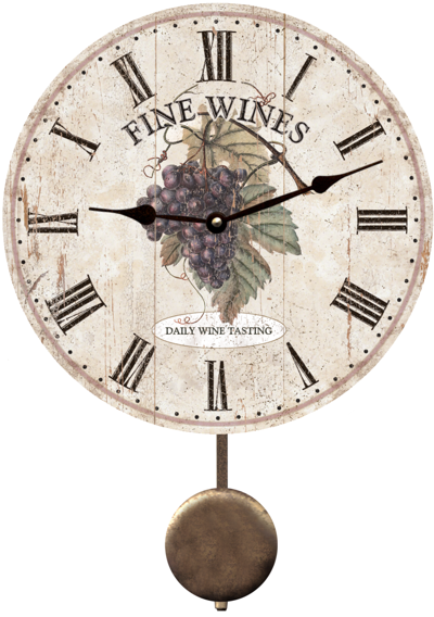 wine-wall-clock